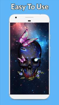 Galaxy Skull Wallpaper poster