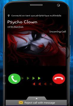 Fake Call Killer baby clown apk screenshot