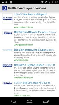 Bed Bath & Beyond Coupons poster