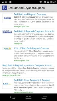 Bed Bath & Beyond Coupons apk screenshot