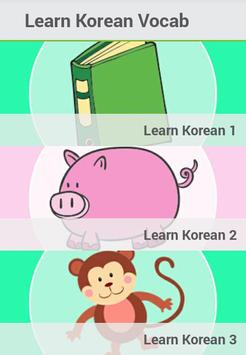 Learn Korean Vocabulary poster