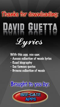 David Guetta Lyrics poster