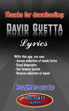 David Guetta Lyrics screenshot 10