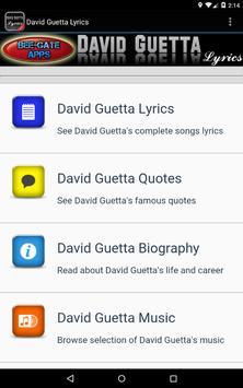 David Guetta Lyrics screenshot 11