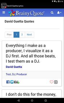 David Guetta Lyrics screenshot 13