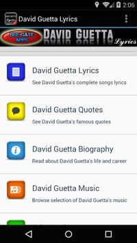 David Guetta Lyrics screenshot 1