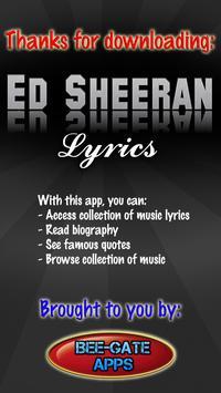 Ed Sheeran Lyrics poster