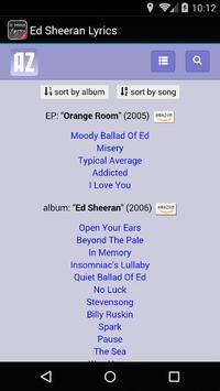 Ed Sheeran Lyrics screenshot 2