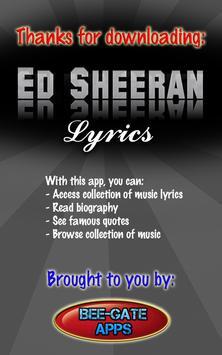 Ed Sheeran Lyrics screenshot 3