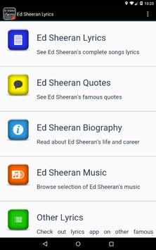 Ed Sheeran Lyrics screenshot 7