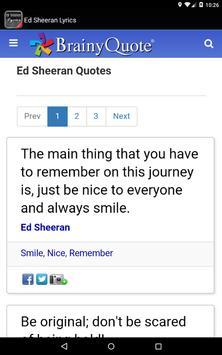 Ed Sheeran Lyrics screenshot 8