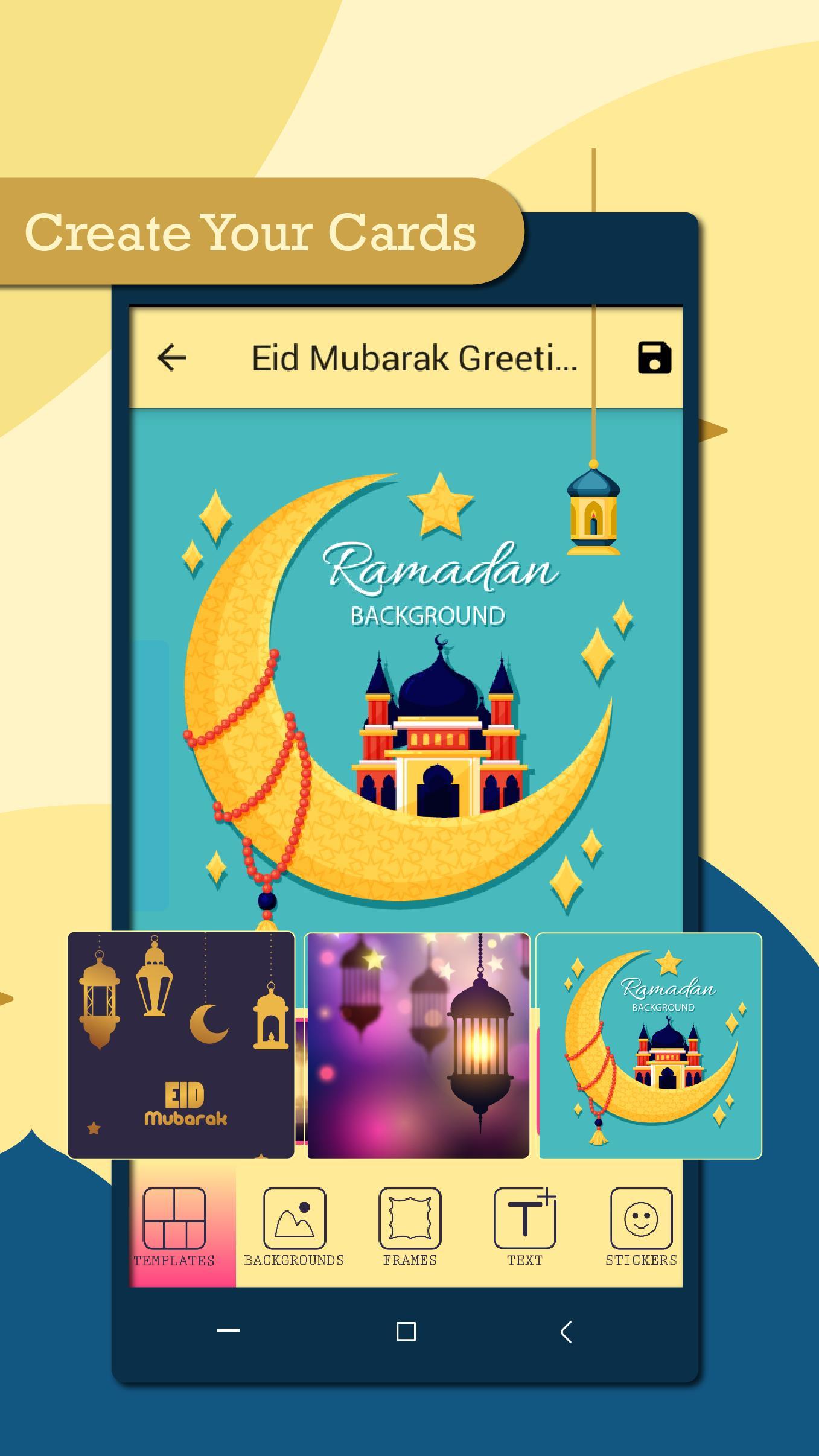 Eid Mubarak Greeting card Maker 5 for Android - APK Download