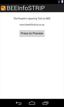 BEEInfoSTRIP App poster