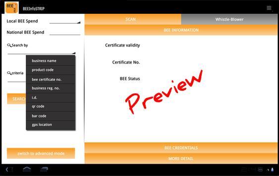 BEEInfoSTRIP App apk screenshot