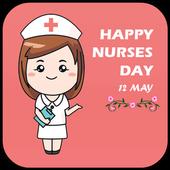 Happy Nurses Day Greeting Card icon