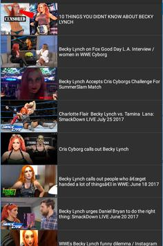 100 Hit Fight for Becky Lynch poster