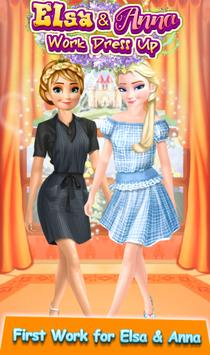 ❄ Frozen Sisters Work Dress up Game poster