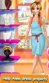 ❄ Frozen Sisters Work Dress up Game screenshot 4
