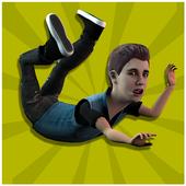 Justin Falling Pop Star icon