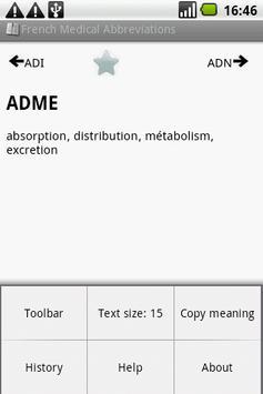 BKS French Medical Acronyms screenshot 1
