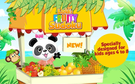 Lola's Fruity Sudoku FREE apk screenshot