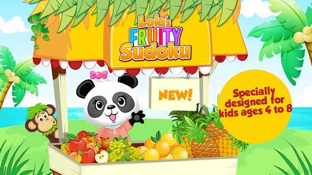 Lola's Fruity Sudoku FREE poster