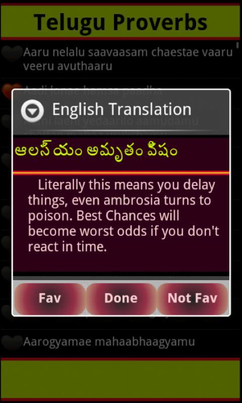 Telugu Proverbs for Android - APK Download
