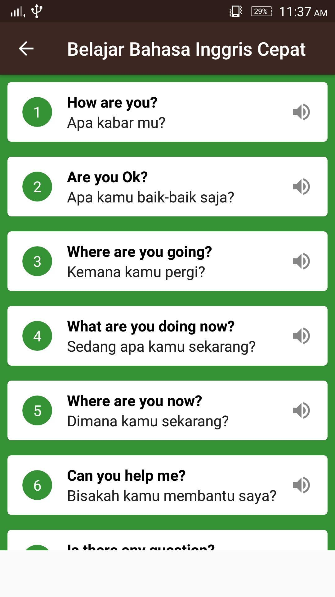 Learning English Bahasa Indonesia With Sound For Android Apk Download