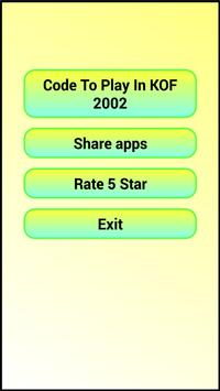 Game code for King of Fighter 2002 screenshot 6