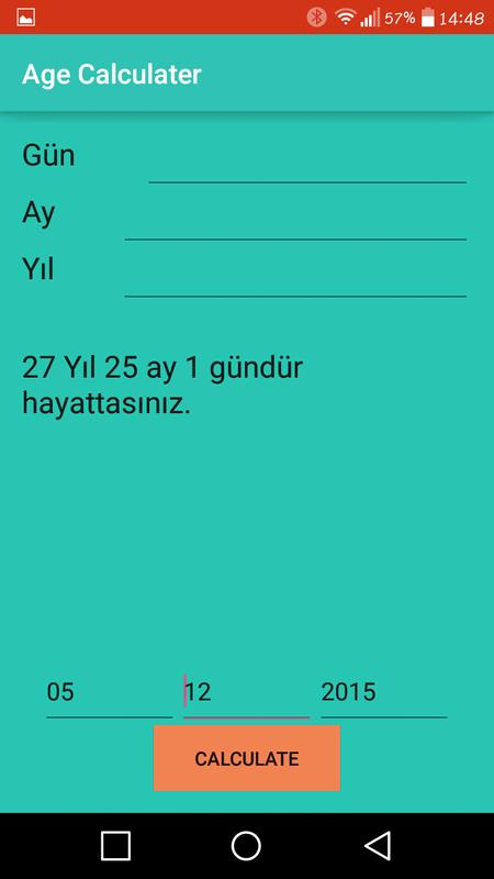 Yaş Hesaplama For Android Apk Download