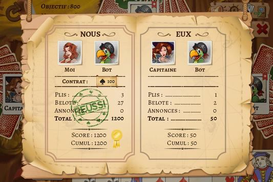 Belote Pirates screenshot 3