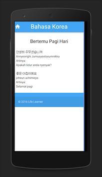 Belajar Bahasa Korea screenshot 2