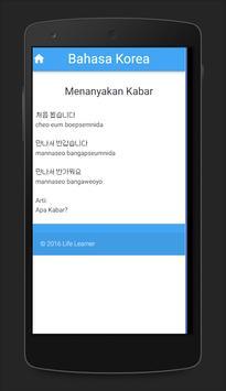 Belajar Bahasa Korea screenshot 3