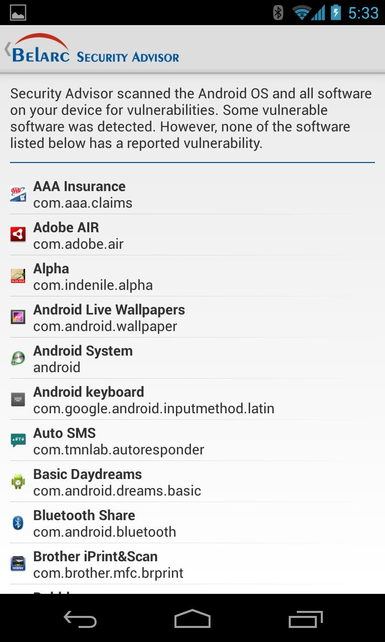 Belarc Security Advisor for Android - APK Download