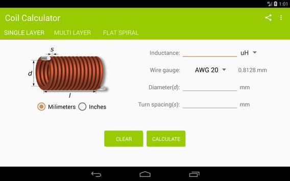 Coil calculator apk download free tools app for android coil calculator apk screenshot greentooth Choice Image