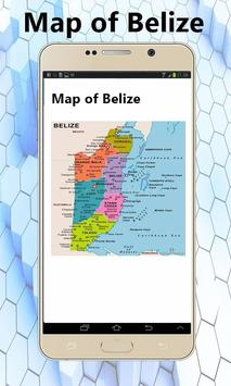 Belize map poster