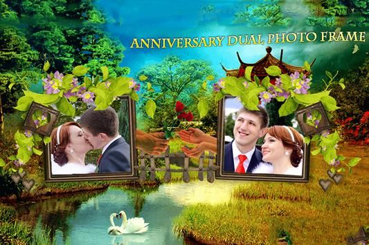 Anniversary Dual Photo Frame poster