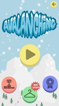 Avalanching: snowboard runner! poster