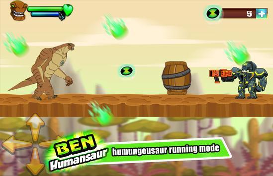 👽  Ben Alien Humungouzaur Transform run poster
