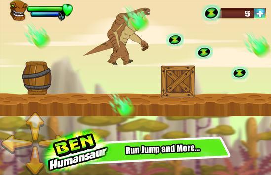 👽  Ben Alien Humungouzaur Transform run screenshot 1
