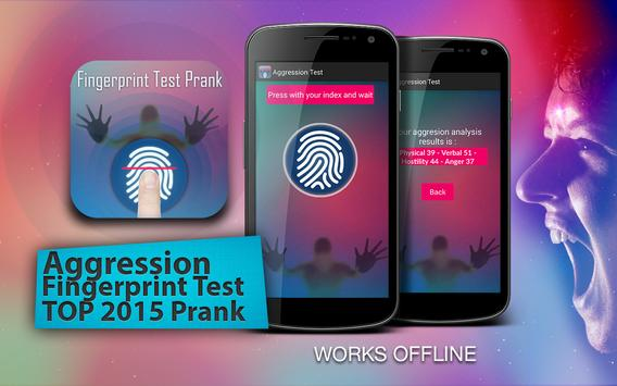 Aggression Test Prank poster