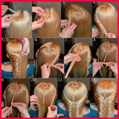 step by step- Hairstyles icon