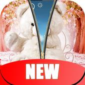 Teddy Bear Zipper Lock Screen HD icon