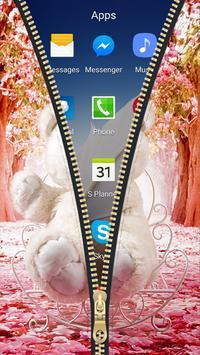 Teddy Bear Zipper Lock Screen HD apk screenshot