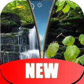 Waterfall Zipper Lock Screen HD icon