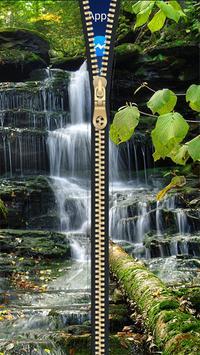 Waterfall Zipper Lock Screen HD apk screenshot