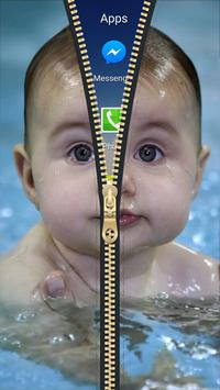 Cute Baby Zipper Lock Screen HD apk screenshot