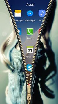 Cute Doll Zipper Lock Screen HD apk screenshot