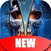 Skull Zipper Lock Screen HD icon