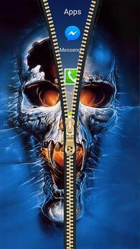 Skull Zipper Lock Screen HD apk screenshot